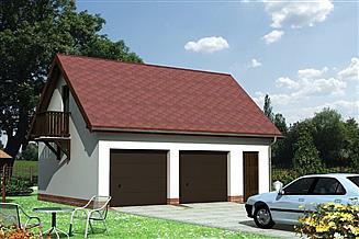 Projekt garażu Garaż 04 - murowana – beton komórkowy