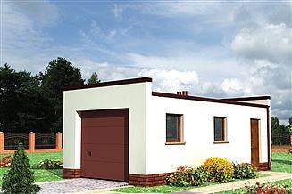 Projekt garażu Garaż 10 - murowana – beton komórkowy