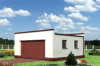 Projekt garażu Garaż 13 - murowana – beton komórkowy