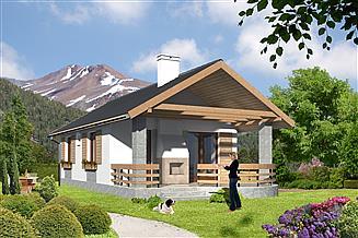 Projekt domu letniskowego Jesenik LMW17