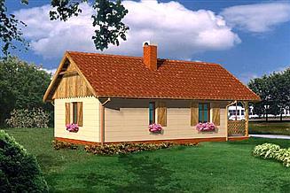 Projekt domu letniskowego WB-3383