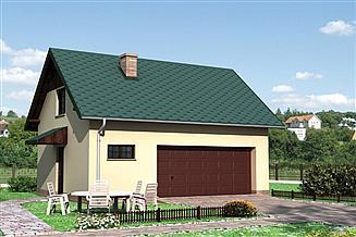 Projekt garażu Garaż M6 - murowana – beton komórkowy
