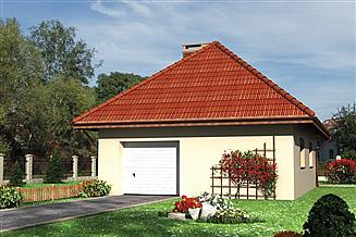 Projekt garażu Garaż M5 - murowana – ceramika