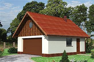 Projekt garażu Garaż 15 - murowana – beton komórkowy