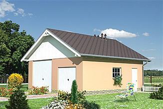 Projekt garażu Garaż 16 - murowana – beton komórkowy