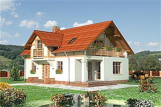 Projekt domu Miłomłyn - murowana – ceramika