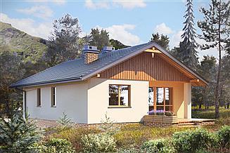Projekt domu Miodunka - murowana – beton komórkowy