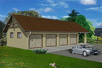 Projekt garażu WB-3845