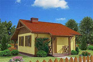 Projekt domu letniskowego Bazylea dom letniskowy