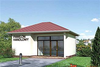 Projekt sklepu Pawilon handlowy 02 - murowana – beton komórkowy