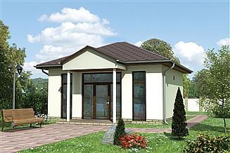 Projekt sklepu Pawilon handlowy 04 - murowana – beton komórkowy