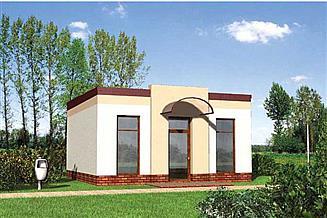 Projekt sklepu Pawilon handlowy 05 - murowana – beton komórkowy