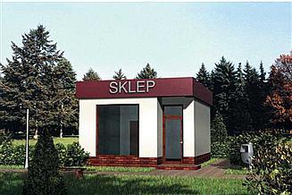 Projekt sklepu Pawilon handlowy 06 - murowana – beton komórkowy