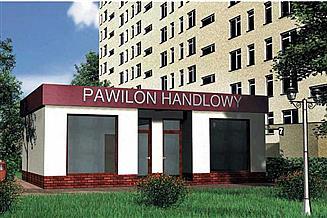 Projekt sklepu Pawilon handlowy 07 - murowana – beton komórkowy