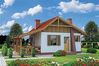 Projekt domu letniskowego Tuluza dom letniskowy