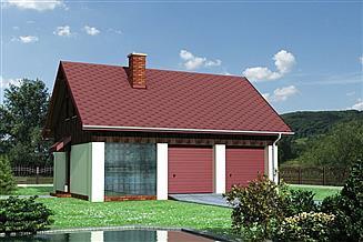 Projekt garażu Garaż M4 - murowana – beton komórkowy