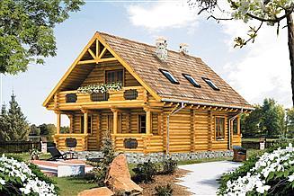 Projekt domu Konwalia 2 bal