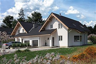 Projekt domu Mlecz Duo - murowana – silikaty