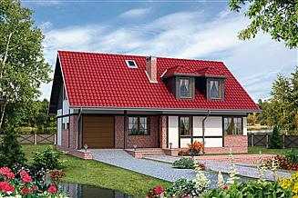 Projekt domu Perkoz - murowana – beton komórkowy