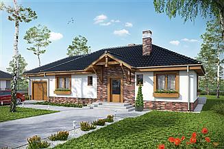 Projekt domu Filipek z garażem 1-st. [A]