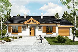 Projekt domu Małgosia z garażem 1-st. [A]