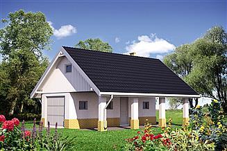 Projekt garażu Garaż 34 - murowana – beton komórkowy