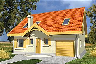 Projekt domu Iskierka poszerzona
