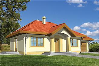 Projekt domu Julek z garażem