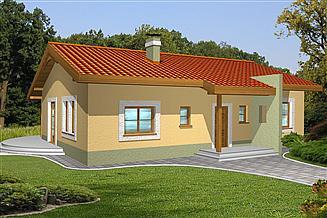 Projekt domu Mniszek bez garażu