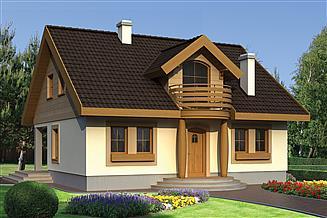 Projekt domu Agatka drewniana