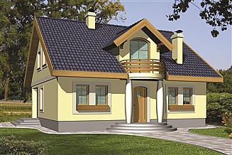 Projekt domu Agatka z powiększoną kotłownią
