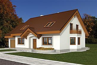 Projekt domu Tulipia z garażem