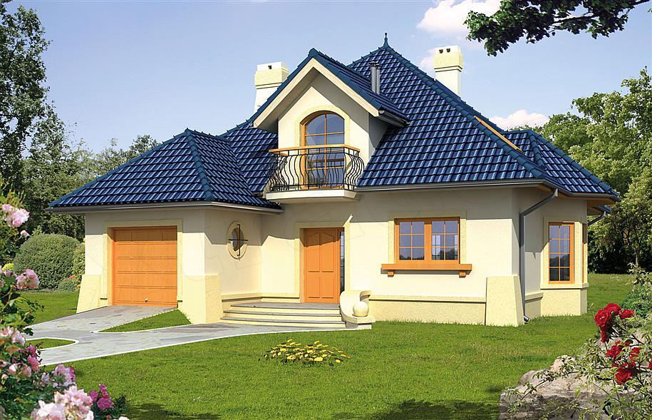 Wybitny Projekt domu Ariel 140 m2 - koszt budowy 255 tys. zł - EXTRADOM WP09