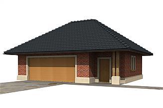 Projekt garażu Garaż G6