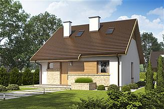 Projekt domu D138 - wersja drewniana