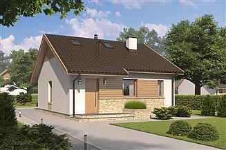 Projekt domu D142 - wersja drewniana