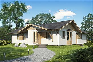 Projekt domu D10 - Iwona wersja drewniana
