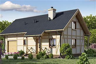 Projekt domu D199 - Paula wersja drewniana
