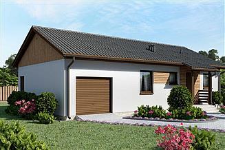 Projekt domu D85 - Jarosław wersja drewniana