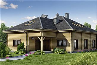Projekt domu D176 - Anna wersja drewniana