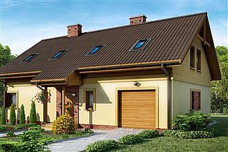 Projekt domu D83 - Martyna wersja drewniana