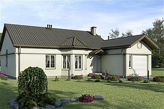 Projekt domu D90 - Leon wersja drewniana