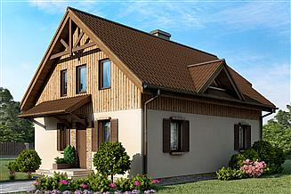 Projekt domu D42 - Błażej wersja drewniana