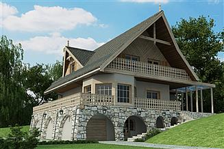 Projekt domu D195 - Halny