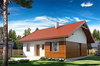 Projekt domu Gaja drewniana