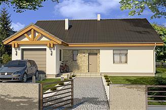 Projekt domu Ambrozja B garaż