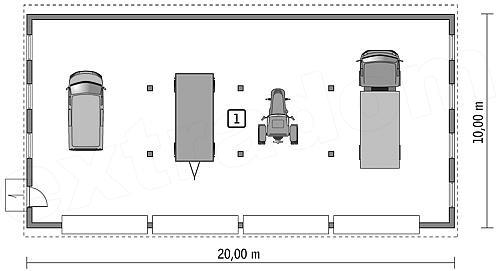 Projekt Garażu Murator Gmc01 Budynek Garażowo Magazynowy Qca