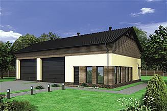 Projekt magazynu Murator GMC30 Budynek garażowo-magazynowy z pom. pomocniczymi