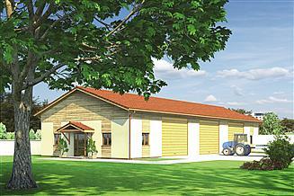 Projekt magazynu Murator GMC04e Budynek garażowo-magazynowy z pom. pomocniczymi