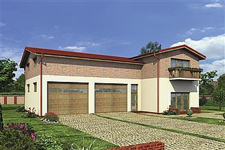 Projekt magazynu Murator GMC31 Budynek garażowo-magazynowy z pom. pomocniczymi i mieszkaniem
